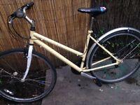 ladies yellow bike (single gear) £70