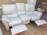 Natuzzi leather 3 seater sofa with double recliner