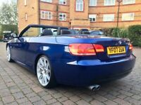 "BMW 330I M SPORT CONVERTIBLE LOW MILEAGE 74K FSH LE MANS DVD SAT NAV PADDLE SHIFTS 19""ALLOYS PX"