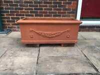 Large terracotta planter / trough