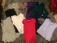 Bundle of maternity clothes size 10-12 M. Excellent condition