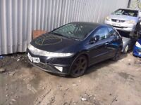 HONDA CIVIC 1.8 PETROL 2006-2011 BREAKING FOR SPARES TEL 07814971951 HAVE FEW IN STOCK