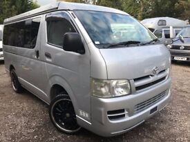 2006 Rust Free TOYOTA HIACE POP TOP FRESH IMPORT 4 BERTH CAMPERVAN 2WD 2.5 TD