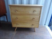 Retro Vintage Med Century Ercol Style Chest Of draws,can deliver