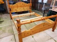 Antique double wood bed. Excellent condition.