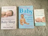 MUST HAVE books for new mums - Baby Whisperer, Baby Sleep Plan and Gina Ford Sleep Guide