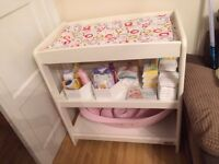 White mamas and papas changing table