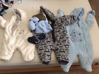 Baby Boy bundle winter snowsuits (0 to 6 month)