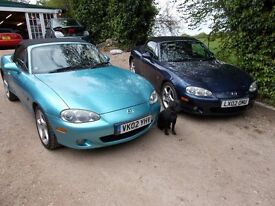 Mx5 mx-5 mx 5. MK2.5 1800. ***S-VT*** 2002. Choice of 2 low mileage examples. Leather. MOT March-18.