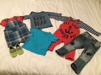 GORGEOUS BUNDLE OF NEXT BABY BOY CLOTHES. 9-12 MONTHS. LIKE NEW.