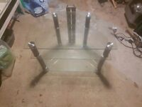 Glass TV stand £10 (sorry for the bad photo, its in storage in the garage!)