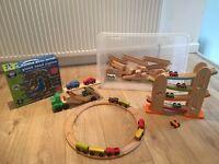 Wooden train track, jigsaw etc