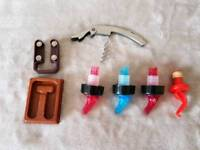 Wine Bottle opener and foil cutter for with bottle
