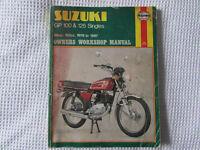 USED HAYNES WORKSHOP MANUAL SUZUKI GP 100 AND 125 SINGLES
