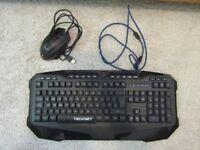 TeckNet Gryphon LED Illuminated Programmable Gaming Keyboard And Mouse, UK Layout