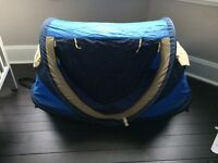 NScessity travel centre, travel cot and tent