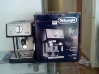 DeLonghi coffee machine. new.un used.interested please callfor a give away prise..Aspley Mottingham.