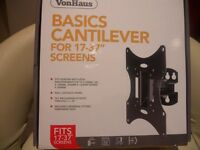 VonHaus TV wall mounting kit 17 - 37 inch screen VESA Tilting with instructions
