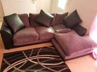 Sofa in L shape nearly new