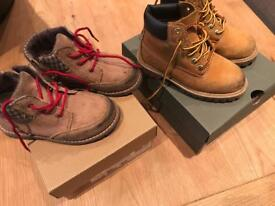 Boys size 9 Boots, Timberland and Uggs