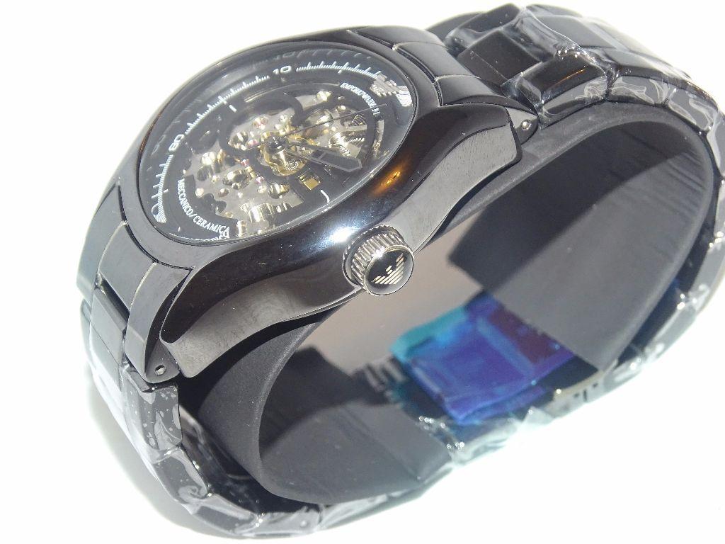 c5e4d46f2cbf Emporio Armani AR1414 Ceramic Skeleton Dial Watch