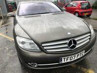 Mercedes Benz CL600 V12 Bi-Turbo 2007 for Sale ( Faulty Engine)