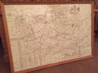 Framed Symonsons map of Kent