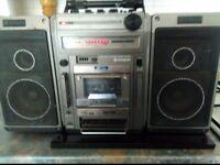"Hitachi Vintage ""Ghettoblaster"" Model TRK-9140W.Radio working, Spares or Repair"