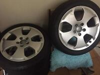 """Audi A3 8P 17"""" alloys and tyres 7.5J 225/45ZR17"""