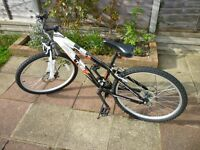 """Bicycle - hardly used - 24"""" rims. Shimano 18 speed gears."""