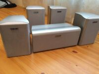 SONY HOME CINEMA 5 SPEAKERS, 8 Ohms, FULLY WORKING, CRYSTAL CLEAR SOUND, EXCELLENT CONDITION.
