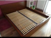 IKEA malm King size bed frame with or with out mattress