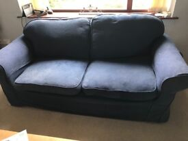 2 three seater sofas with washable covers