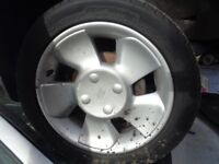 """FORD PUMA / FIESTA 15"""" ALLOYS WITH TYRES 195/50/15 ---- £100"""
