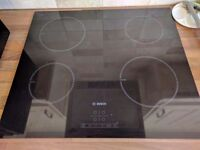 Bosch PIA611B68B 59cm Touch Control Four Zone Induction Hob With Power Management - Black