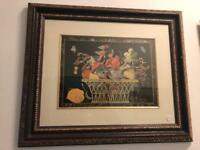 Beautiful old vintage antique wooden picture.