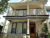 3 bdrm apartment in a heritage 5-plex in downtown.  May 1st!