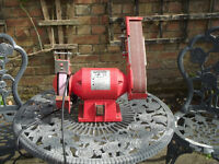 Bench grinder and belt sander