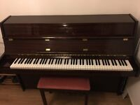 Offenbach Upright Piano, Mahogany Gloss