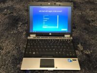 "HP Elitebook 2540p Laptop 12.1"" Screen /Intel i7 2.13Ghz/4GB Ram 160Gb Drive Windows 10 Pro"