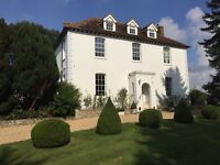 Near CHICHESTER 1 bed f/f flat for n/s single professional in country house converted loft