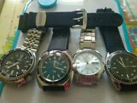 FOUR GENTS WATCHES FOR SALE OR SWAP £225
