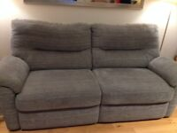 Comfortable 3 seater sofa in grey (from Furniture Village). Two years old and in very good condition