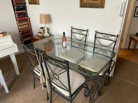 5f x 3ft Glass dining table