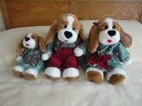 MUMMY, DADDY AND BABY GIRL DOGGY SOFT TOYS (Used)
