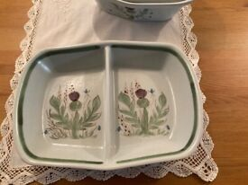 Buchan Thistle Pottery serving dish