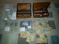 Huge job lot of vintage lenses convex and convex mirrors cylindrical lenses etc lab science