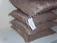 Beaded Cushion Covers - Catherine Lansfield As new x 4