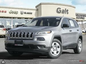 2016 Jeep Cherokee | SPORT | BLUETOOTH | TIRE SENSOR | 5.0 TOUCH