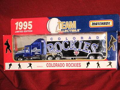 Colorado Rockies 1995 Limited Ed 1:80 Scale Matchbox DieCast Team Trailer